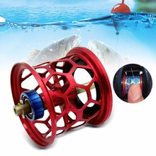 Brand New Portable Honeycomb Shape Full Metal 32mm Micro Line Cup Raft Fishing Fishing Reels Fish Line Wheel For Pure Fishing