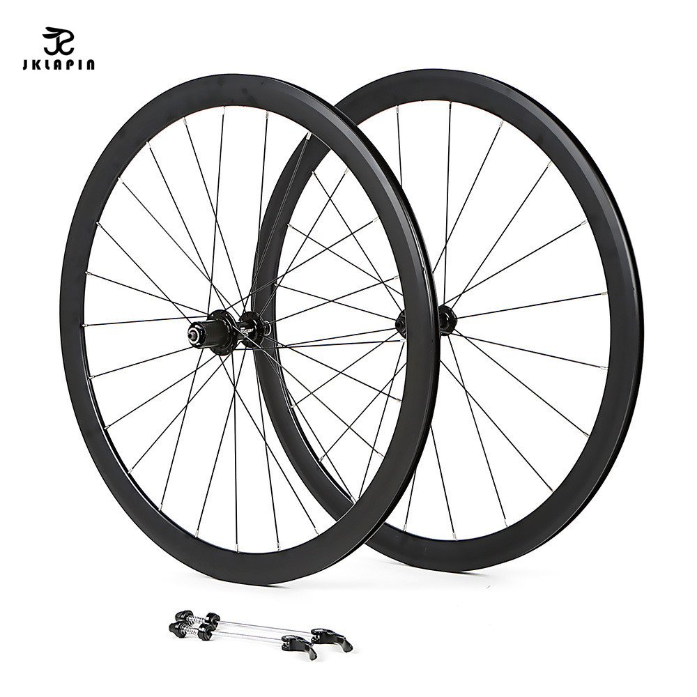 Road <font><b>700C</b></font> <font><b>bicycle</b></font> wheelset aluminum alloy road bike 2 sealed bearing 40mm rims bike <font><b>wheels</b></font> parts Clincher image