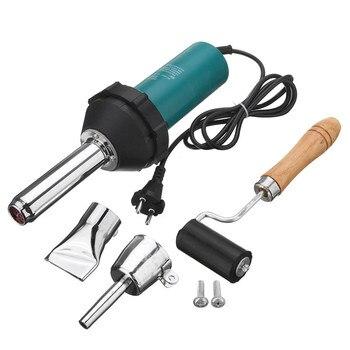 Soldador de aire caliente de plástico de 1080W 220V 50Hz con boquilla de punta de lápiz y cabezal plano y Kit de soldadura de aire caliente de rodillo de presión para Weldin