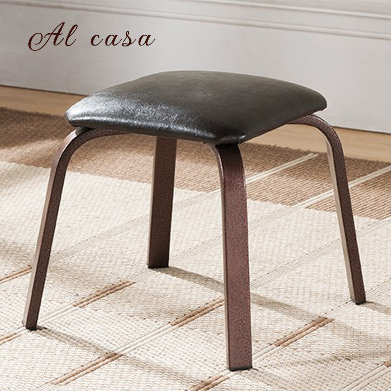 Date livraison gratuite Alcasa à manger tabouret enfants salle de bain chaise en fer forgé meubles pouf repose-pieds étude outil