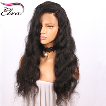 Elva Hair 360 Lace Frontal Wigs Pre Plucked Body Wave 180 Density Brazilian Remy Human Hair