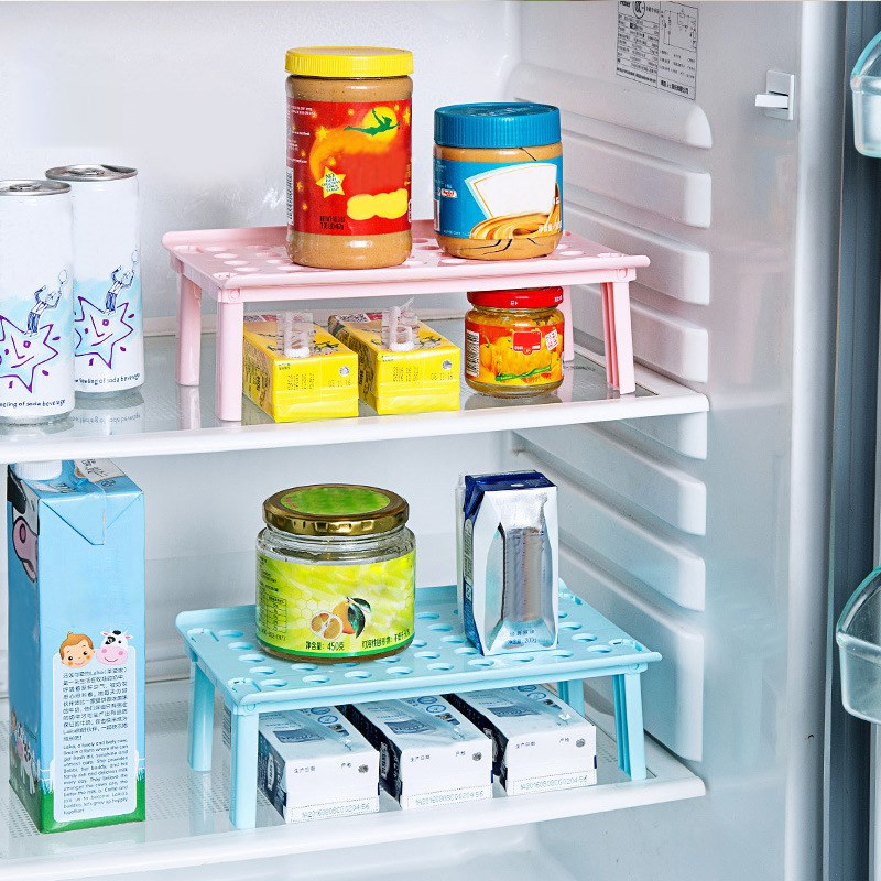 Refrigerator Fridge Storage Rack Kitchen Microwave Oven Shelf Multipurpose Plastic Tray Holder Organizer Tool Accessories