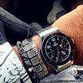 Famous Brand Braiding Macrame Bracelet Male Jewelry Micro Pave Black CZ Square Charm Bracelet Men Bracelet Bangle