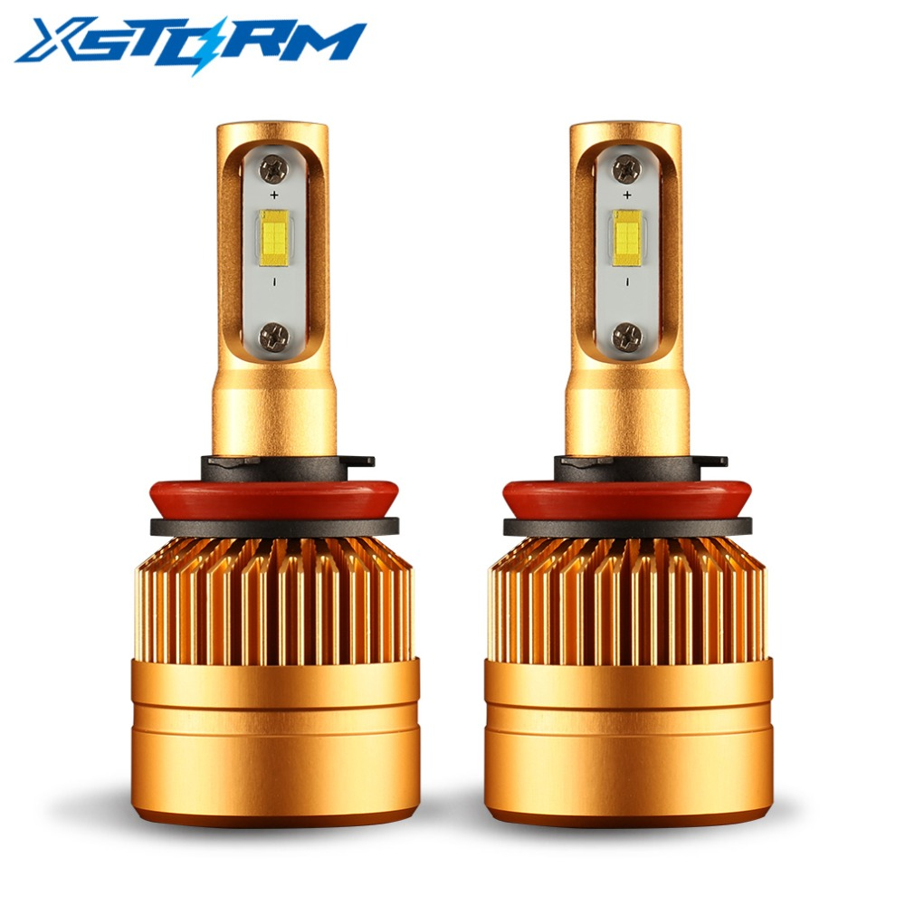 все цены на 2Pcs H8 H9 H11 Led HB4 9006 HB3 9005 Led Headlight Bulb 8000LM 6000K 12V White Auto LED Lights Car Head Lamp онлайн