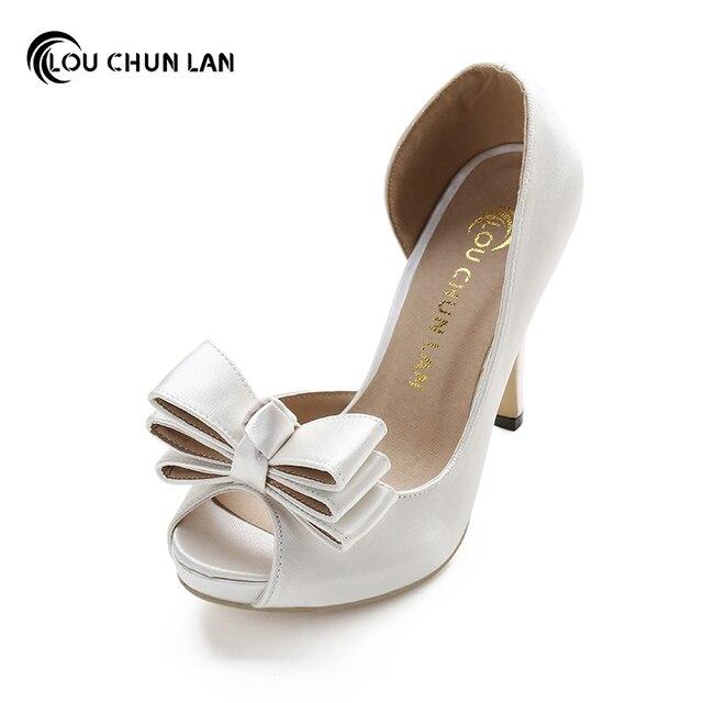 LOUCHUNLAN Women Pumps Shoes High Heels Wedding Shoes Elegant Rhinestone  Round Toe Shoes Free Shipping Party shoes bbd204f01697