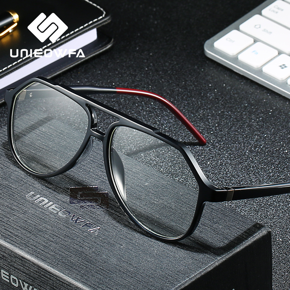 Image 2 - Clear Optical Glasses for Men Frame Transparent Myopia Degree Eyeglasses Frame TR90 Prescription Eyewear Frame Pilot Spectacles-in Men's Eyewear Frames from Apparel Accessories