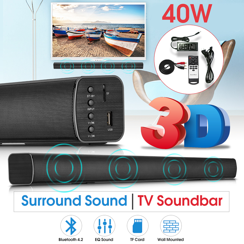TV Soundbar Bluetooth Speaker N-S08H Home Theater Remote Control Audio Bass DSP 3D Surround Stereo Smart Home Bluetooth Soundbar gift n home