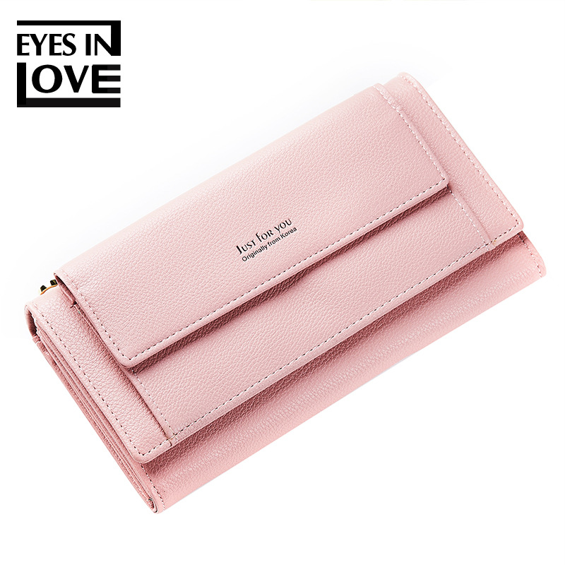 Eyes In Love Women Clutch Wallet With Shoulder Strap Large Capacity Women Purse Brand Long Ladies Phone Wallet Card Holders
