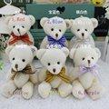 72 pcs/lot 12 см шелк галстук-бабочка mini совместное алмаз плюшевый медведь игрушка букет материал, Лучший свадьба подарок