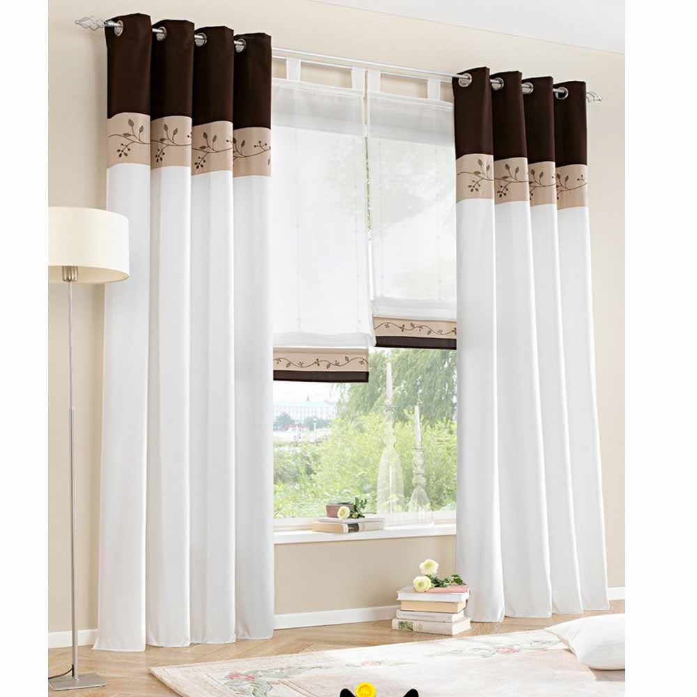 1 piece only 2015 new white living room curtains for Window valances for bedroom