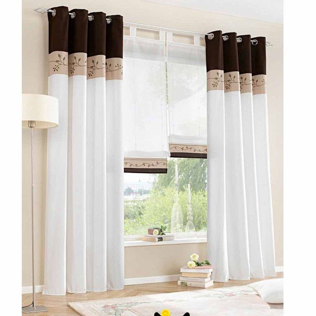 1 piece only ) 2015 New White Living Room Curtains Bedroom Window ...