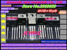 Aoweziic  2018+  100% new imported original TIP41C TIP42C  TIP41 TIP42 TO 220 Darlington power transistor on tube 6A 100V