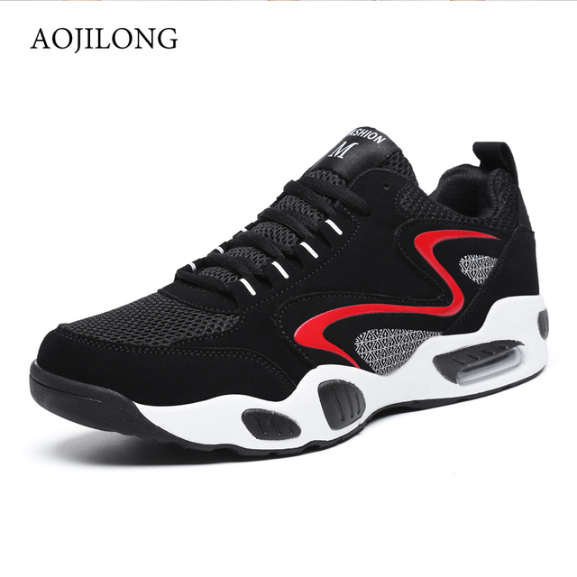 AOJILONG 2018 Running Shoes Sneakers Men Superstar Shoes Zapatillas Hombre  Femme Lightweight Loafers Footwear Walking Shoes 346255fd323