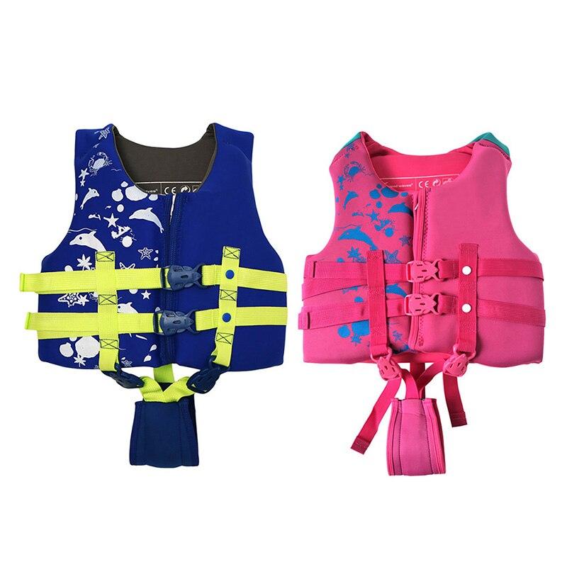 Детский дрейфующий детский спасательный жилет, Спасательная куртка, детские спасательные жилеты, водная купальная Одежда для девочек и дев...
