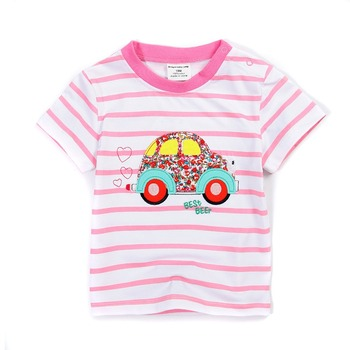 1-6Ynew2018 girls T-shirt Kids Tees Baby girl brand tshirts Children tees short Sleeve 100%Cotton summer Little big girl Cartoon