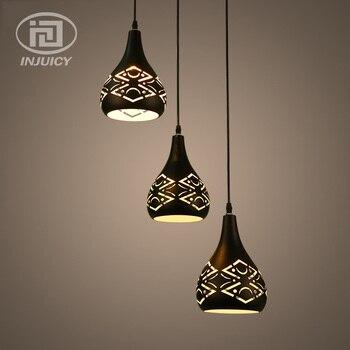 Modern Simple Aluminum Art LED Droplight  Classic Dining Room Home Lighting Pendant Lamp For Cafe Hall
