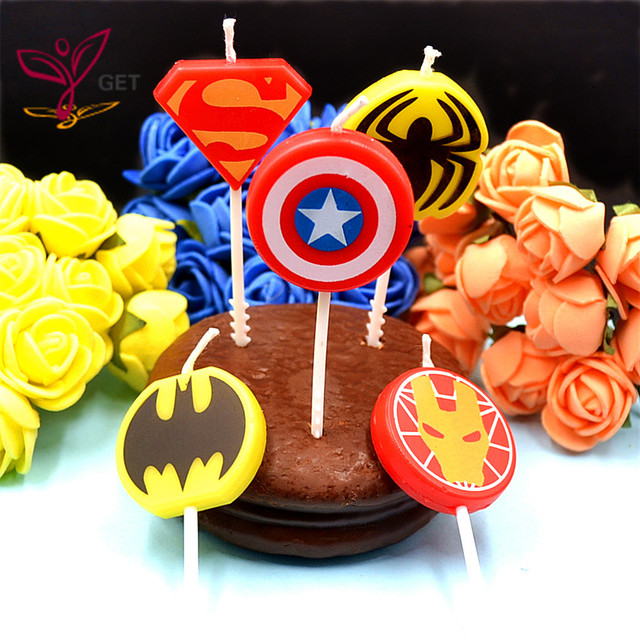 HOT HOT 5pcs/lot The Avengers Party Supplies Kids Birthday Cake Candles Evening Party Decorations  sc 1 st  AliExpress.com & HOT HOT 5pcs/lot The Avengers Party Supplies Kids Birthday Cake ...