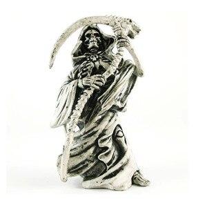 Original New Death Skull Key Chains Men Vintage Rubber Motor Skull Keychain Bag Charms Key Ring Keyring Jewelry Halloween Gift(China)