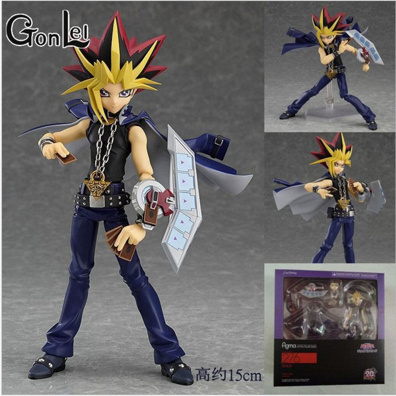 GonLeI Figma 276 Yu-Gi-Oh! Duel Monsters YAMI YUGI PVC Action Figure Resin Collection Model Doll Toy Gifts Doll Cosplay 15cm [sgdoll] 2017 new anime yu gi on duel monsters yami yugi 1 7 pvc figure no box hot sale free shipping 5278 l