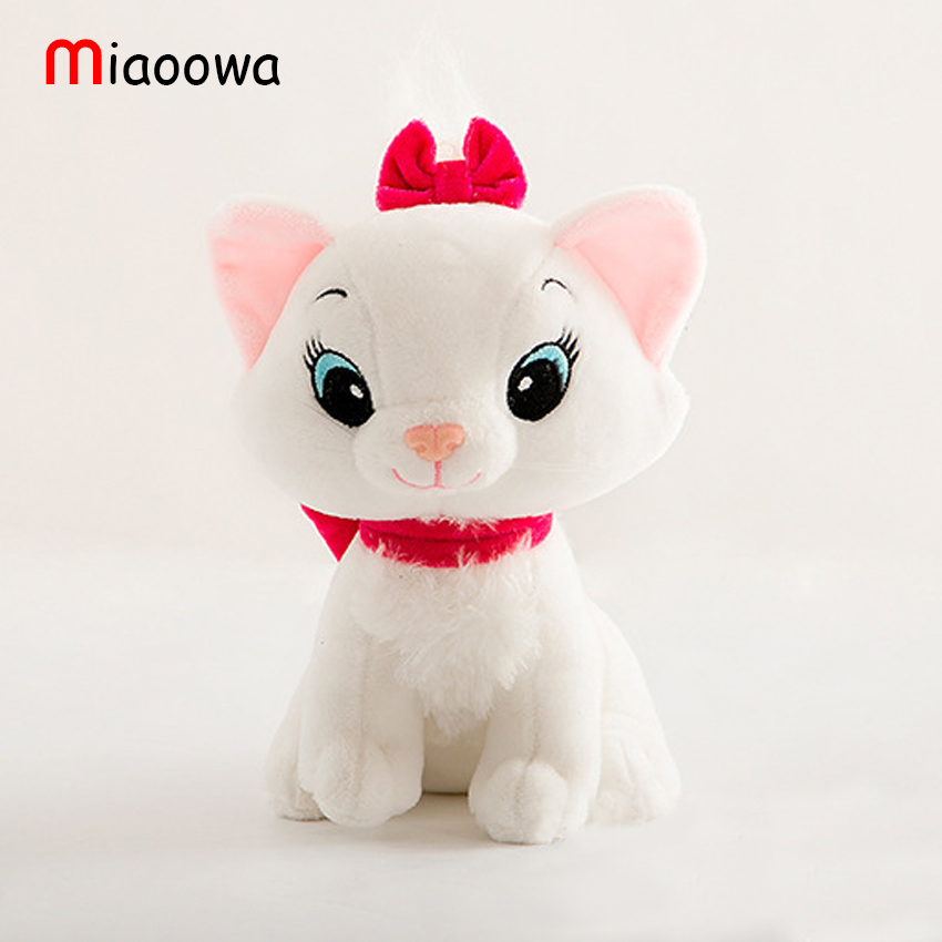 1pc 20cm The Aristocats Cat Plush Toys Marie Cat Plush Dolls Kawaii Soft Cartoon Animals toys for Children