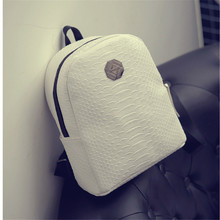Style School Backpack Pu Leather Fashion Women Double Shoulder Bag small size backpack For Teens Girls
