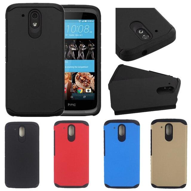 Гибридный ТПУ + Пластик Матовый Противоударный Hard Case For HTC Desire 526 526 Г 326 326 Г Доль Сим Крышка Случаи Мобильного Телефона Оболочки кожи