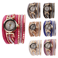 New Design Women's Luxury Crystal Wristwatch 0.98″ Dial Diameter PU Leather Female Casual Watches Multi Colors for Choice