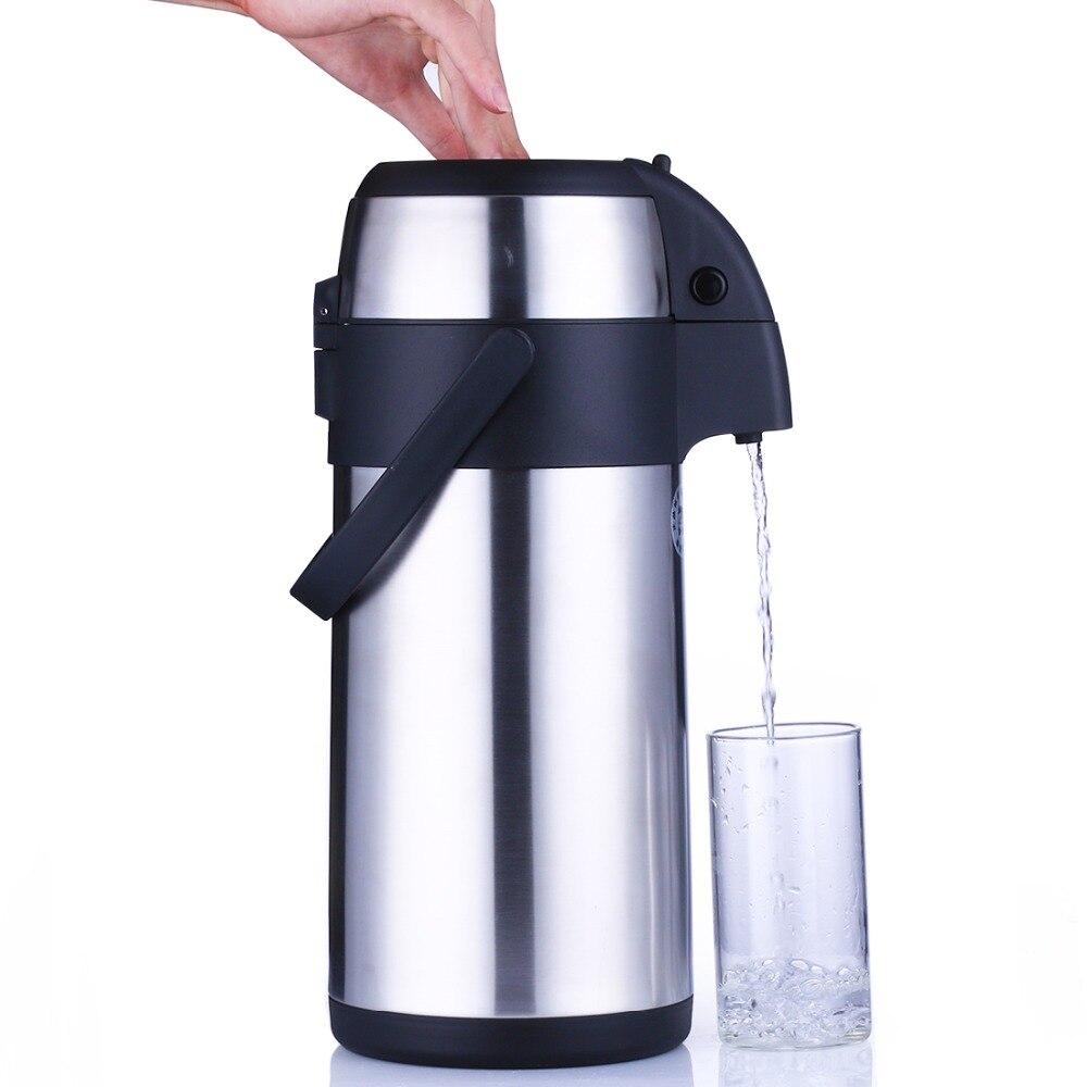 3L чайник Нержавеющаясталь Кофе горшок изоляции пить воду для бутылки термо термос кухня Термальность
