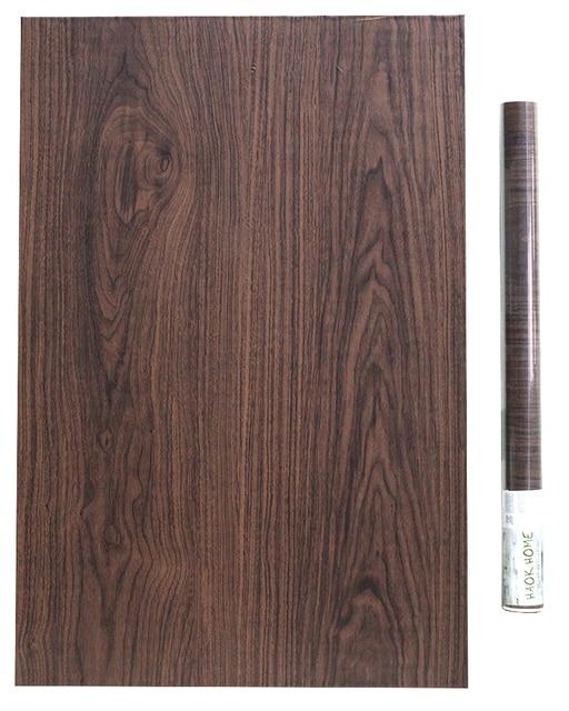 Us 19 9 Haokhom Peel Stick Self Adhesive Wallpaper Wood Grain For Walls 3d Black Furniture Sticker Shelf And Drawer Liner Table Door In