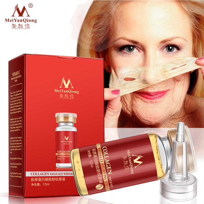 Collage Argireline+aloe vera+collagen rejuvenation anti wrinkle Serum for the face skin care products anti-aging cream 12ML 1pcs six peptides serum for striae anti wrinkle cream anti aging collagen rejuvenating face lift skin care