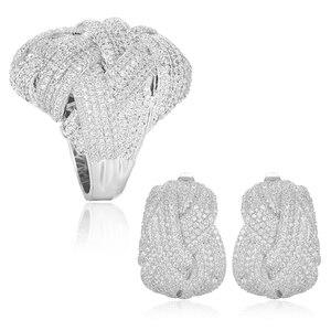 Image 4 - GODKI Newest Famous Brand Luxury Winding Cross Geometry Cubic Zironia CZ Jewelry Sets For Women Wedding Dubai Bridal Jewelry Set