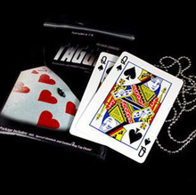 Tagged Necklace Knot Find Card  with  magic trick magic prop close up magic 400magic