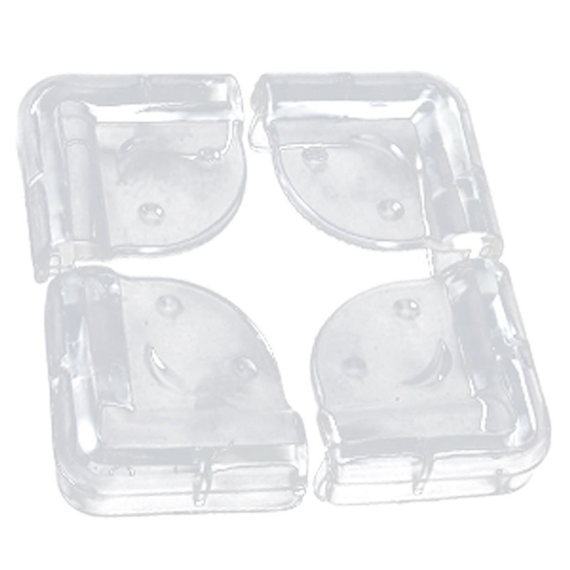 Corner Protection, Soft Plastic, Clear, 4 Pieces