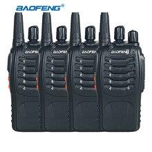 4pcs BaoFeng BF-888S Two Way Radio UHF 400-470MHz Handheld Walkie Talkie CB Ham Radio Transmitter Baofeng 888S Transceiver