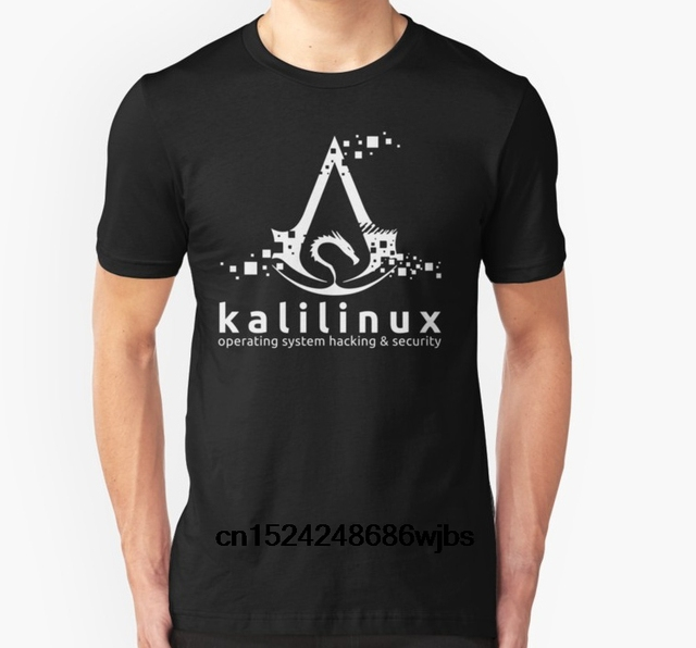 db418f3d79a4a4 Fashion Cool Men T shirt Women Funny tshirt Kali Linux Operating System  Hacking and Security Customized