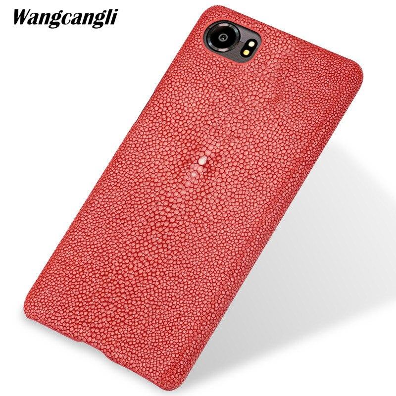 Coque de téléphone en cuir perlé sur mesure pour blackberry keyone pearl demi-paquet étui de téléphone portable étui de téléphone portable pour blackberry priv