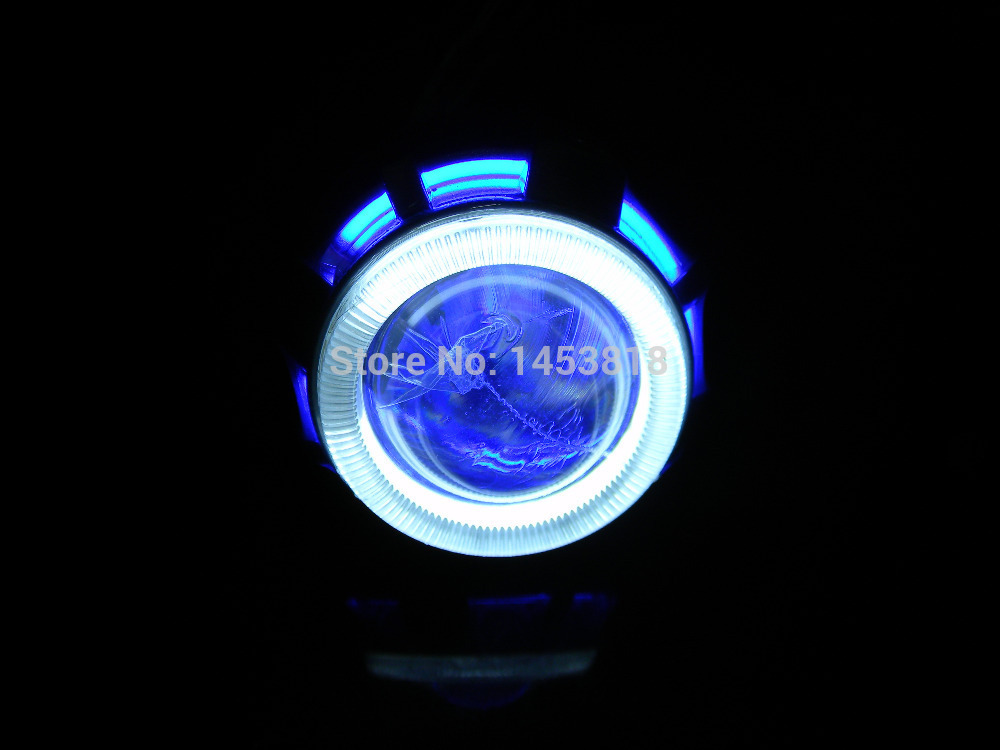 Fast Shipping 2.0ABT 35w 2'' inch Universal Motorcycle Double Angel Eye HID Projector Lens Headlight Conversion H1 H4 H7
