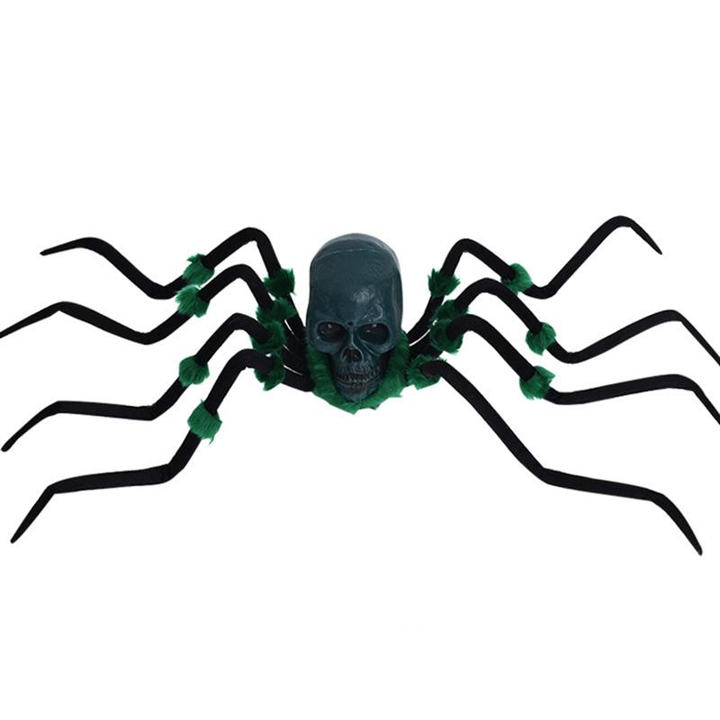 halloween sound control creepy plush spider electric giant spider fuzzy crawler with skull headchina - Spider Halloween Decoration