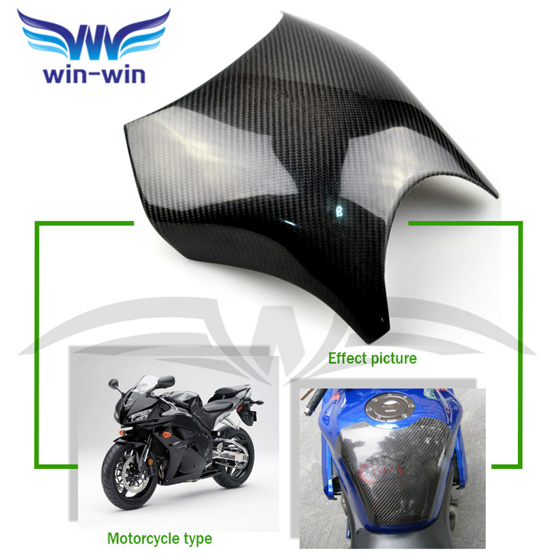 ФОТО new motorcycle accessories black color carbon fiber fuel gas tank protector pad shield rear carbon fiber for honda CB400 92-97