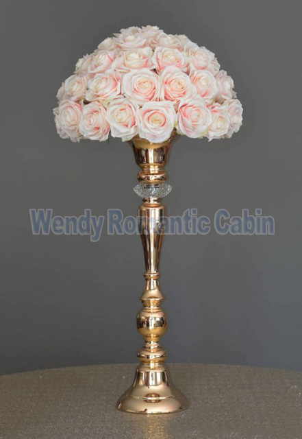 48cm Tall Wedding Flower Vases Gold Table Centerpiece Wedding