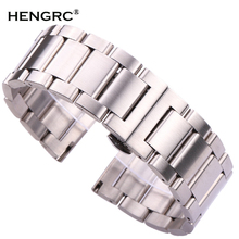 18 20 21 22 23 24mm Metal Watch Band Strap Men High Quality Stainless Steel Watchband Link Bracelet Double Fold Deployment Clasp