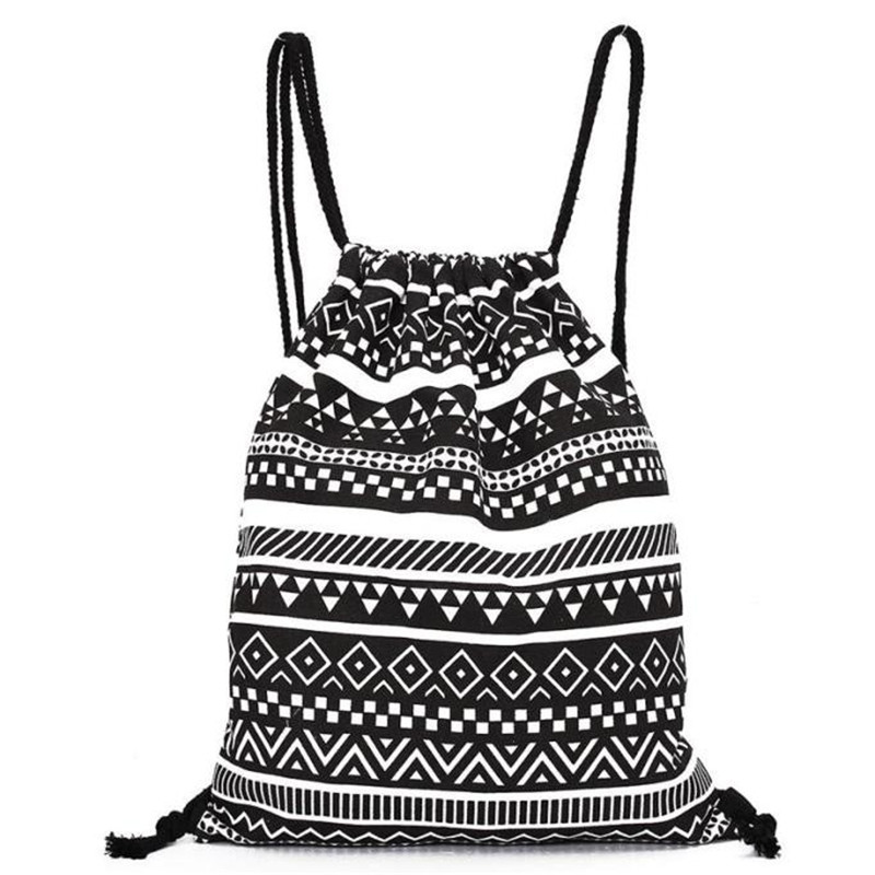 Unisex Backpack National Canvas Drawstring School Bagpack Vintage College Student Girls Casual Bag Printing Sack Bag Hot