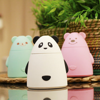 New Cartoon Bear USB Ultrasonic Air Humidifier Mini Essential Oil Aroma Diffuser Aromatherapy Home Office SPA