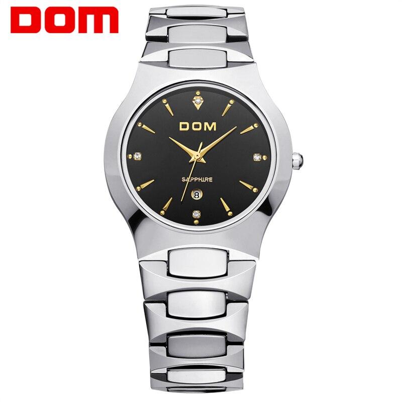 Фотография Men business Watches Top Brand DOM Luxury Quartz Watch Fashion Tungsten Steel Waterproof Watch Wristwatch gift W-624G1SM