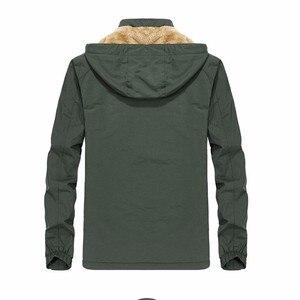 Image 4 - KOSMO MASA noir fourrure Parka hommes manteaux dhiver veste hommes coton fermeture éclair militaire à manches longues à capuche décontracté Parkas 5XL MP027