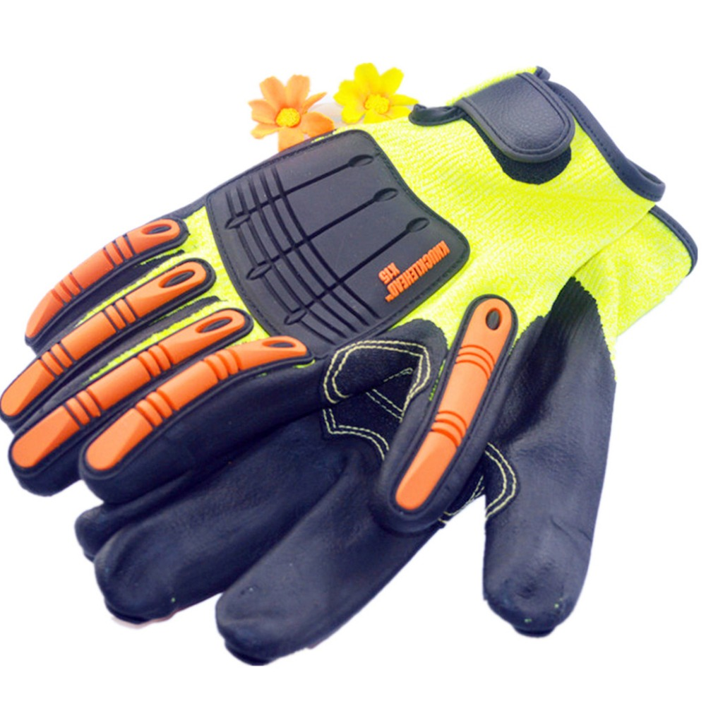 One Pair TPR Working Cut resistant Safety Glove self-defense supply Riding motorcycle racing gloves anti cut safety glove hppe cut resistant work glove