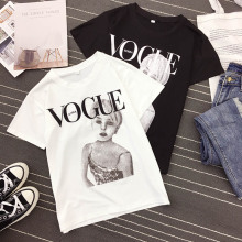 NiceMix Vintage Paris Fashion Art T-Shirt Summer Women T-shirt Girl Simple Casual Tops Woman Tees Light ink style Short Sleeve