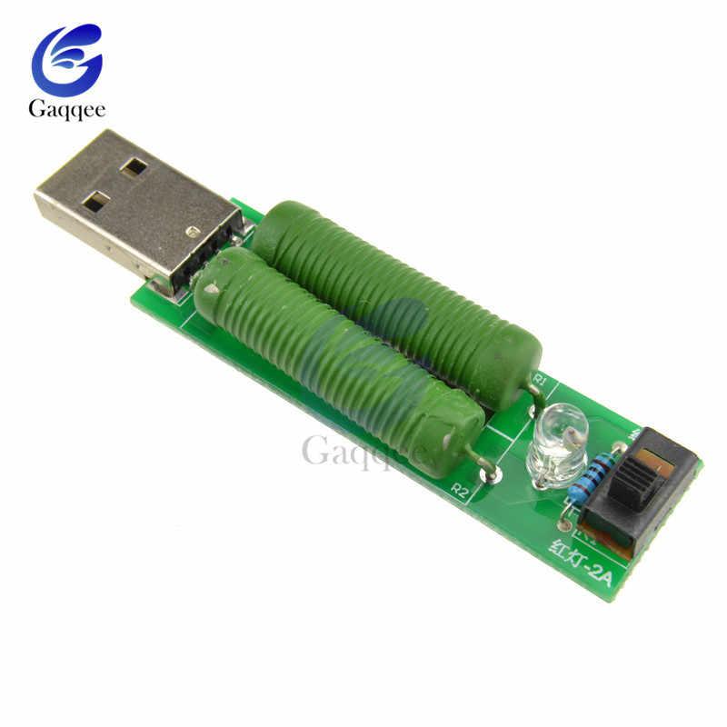 USB weerstand dc elektronische belasting Met schakelaar instelbare stroom 5 V 1A/2A/3A batterij capaciteit spanning ontlading weerstand tester
