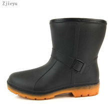 2017 sale pvc winter warm galoshes bot with plush color by yellow and black  rainboots garden boots fishing