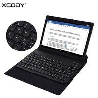 XGODY T1005 10 Pouce Tablet Android 6.0 Quad Core 1 GB + 16 GB avec Bluetooth Couvercle Du Clavier Russe 3G Appel Téléphonique Comprimés PC OTG GPS
